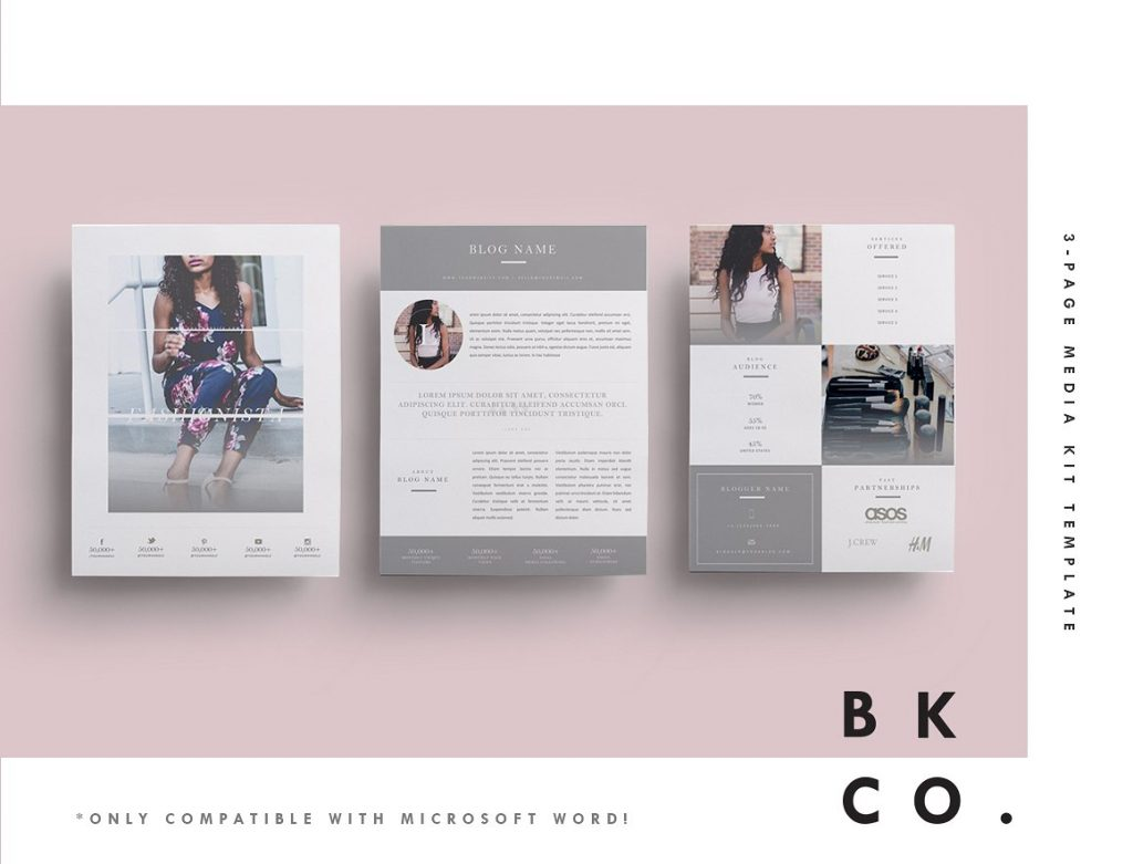 Influencer Media Kit Example Template